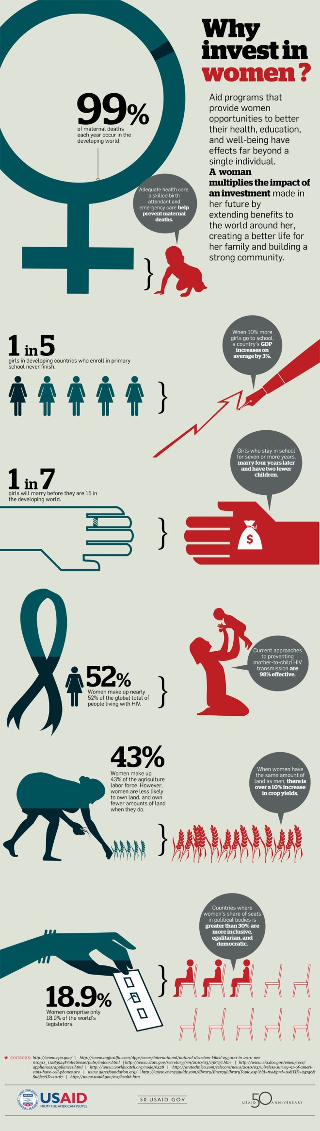 Why Invest in Women Infographic