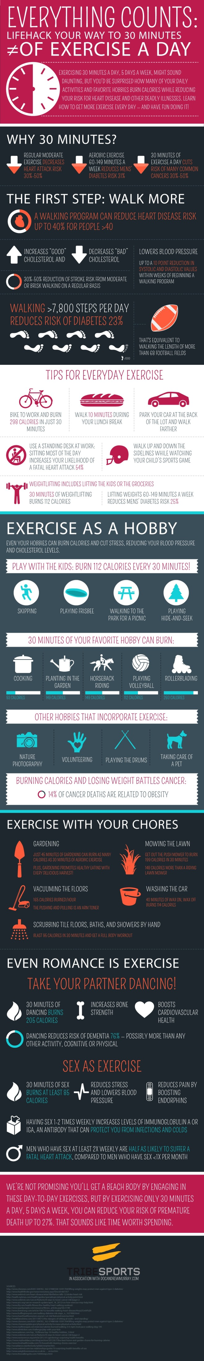 Lifehack Your Way to 30 Minutes of Exercise A Day